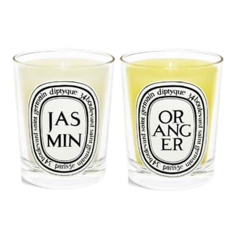 Diptyque Scented Candles Twin Pack (Jasmine, Orange Tree)