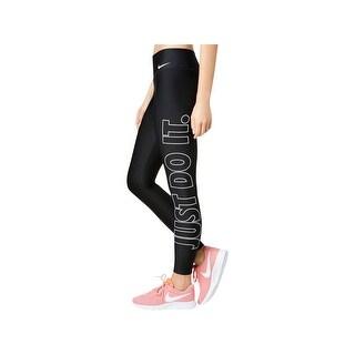 Nike Womens Power Athletic Leggings Logo Training