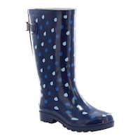 Western Chief Women's Wide Fit Rain Boot Blue