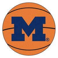 University of Michigan Wolverines Basketball Area Rug