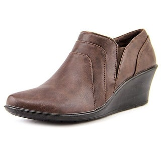 Easy Street Virgo N/S Open Toe Synthetic Wedge Heel