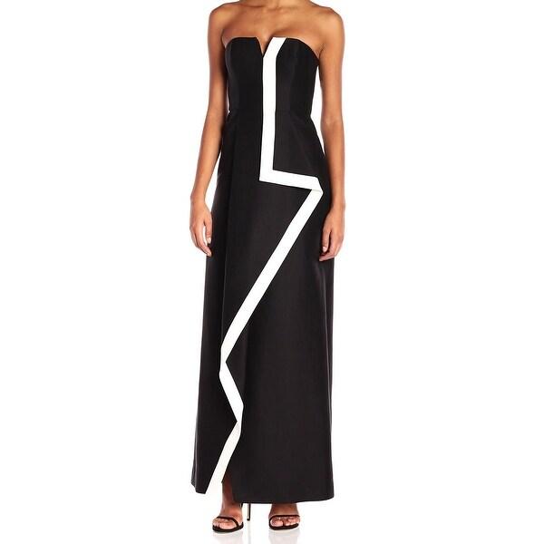 4be52648e69e Shop Halston Heritage Black White Womens Size 6 Two Tone Contrast ...