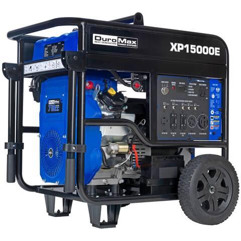 DuroMax 5000-Watt V-Twin Gas Electric Start Portable Generator