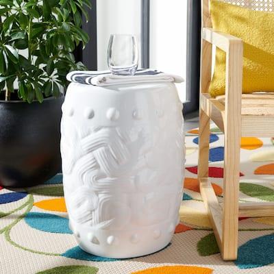 SAFAVIEH Panthea Indoor/ Outdoor Ivory Ceramic Decorative Garden Stool