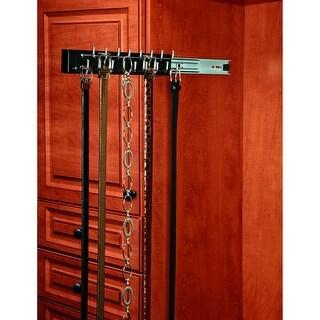 Rev-A-Shelf CWSBR-14-1 CWSBR Series 14 Inch Deep Pull Out Belt Rack with 13 Hooks - N/A