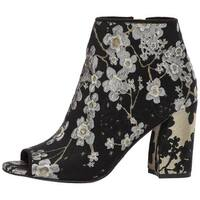 Nine West Womens Haywood Fabric Peep Toe Ankle Fashion Boots
