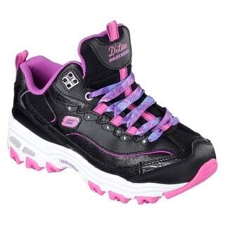 Skechers 80548 BPPR Girl's D'LITES-WILD BLING Sneaker