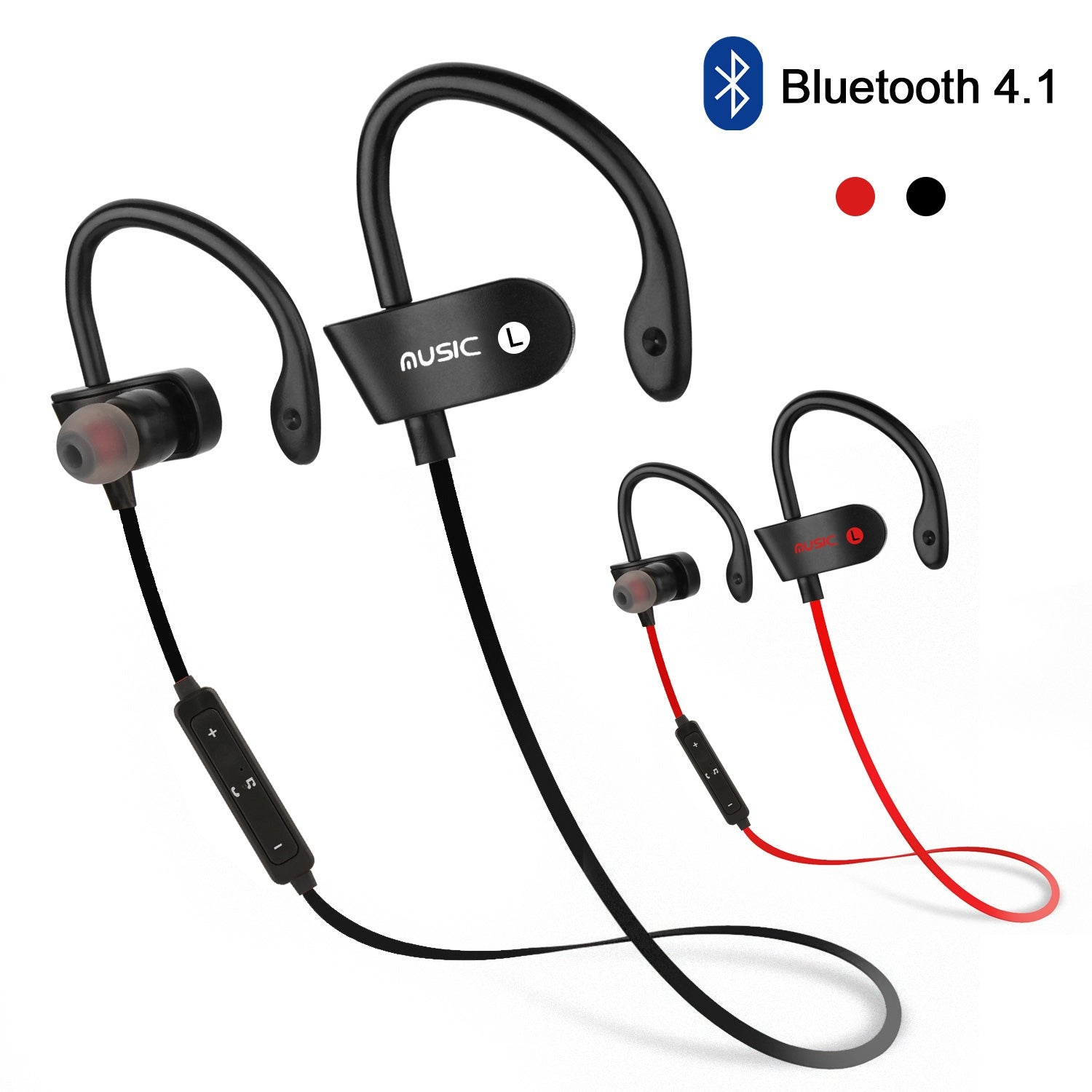 Shop Agptek Waterproof Bluetooth Earbuds Beats Sports Wireless Headphones With Mic For Gym Use For Running In Ear Headsets Overstock 28916225