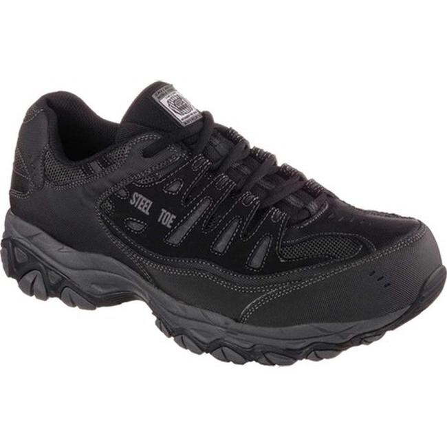38ff5e4f7b3d Shop Skechers Men s Work Relaxed Fit Crankton Steel Toe Shoe Black Charcoal  - On Sale - Free Shipping Today - Overstock - 10483207