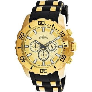 Invicta Men's Pro Diver 22558 Gold Silicone Japanese Chronograph Diving Watch