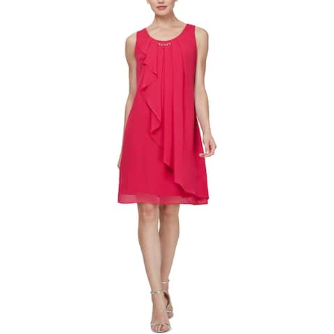 SLNY Womens Party Dress Sleeveless Mini - Sorbet - 8
