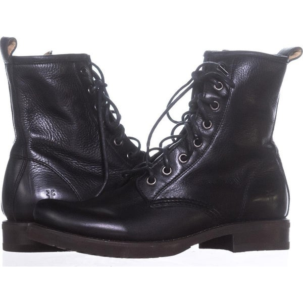 6381ca9a0 Shop FRYE Veronica Combat Combat Boots, Black - Free Shipping Today ...
