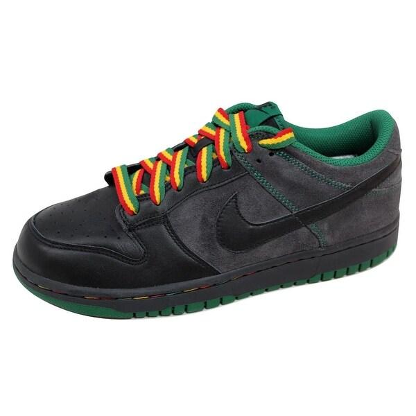 Nike Men's Dunk Low CL Black/Black-Anthracite-Pine Green Rasta Jamaica 304714-909 Size 12