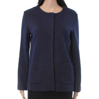 Weekend Max Mara NEW Blue Women's Size Large L Pomezia Dot Jacket