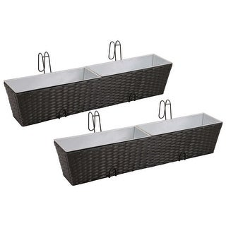 Link to Balcony Hanging rattan Planter Set 20 inch 2 pcs Similar Items in Planters, Hangers & Stands