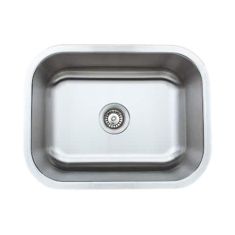 Wells Sinkware Craftsmen Series 23-inch 16-gauge Undermount Single Bowl Stainless Steel Kitchen Sink - Sink only
