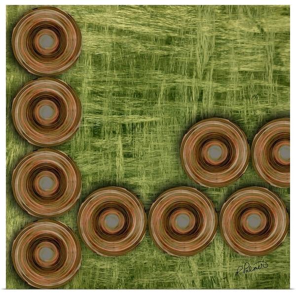 """Circles On Green"" Poster Print"