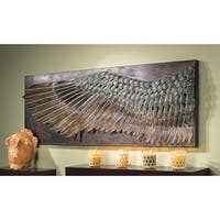 Design Toscano Wing of Icarus Sculptural Metal Wall Frieze - 36.5 x 2.5 x 13.5