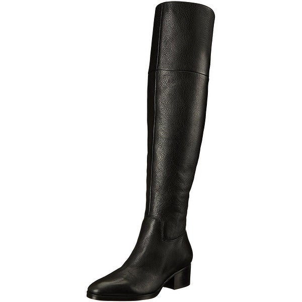 LAUREN by Ralph Lauren Womens Dallyce Leather Closed Toe Over Knee Fashion Bo...