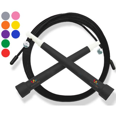 Wacces Deluxe Adjustable Double Unders Speed Jump Rope