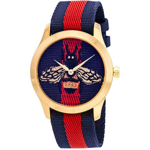 Gucci Unisex G-Timeless 126 Bee Quartz 38mm Watch - One Size
