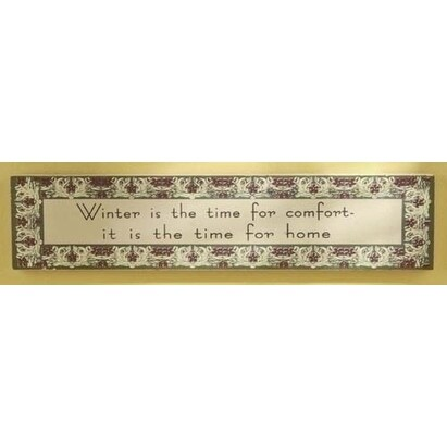"""Winter Is The Time For Comfort Decorative Wooden Sign 22"""""""