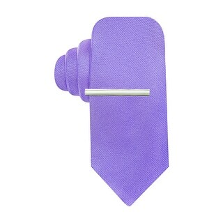 Alfani Spectrum Reversible Shades Prom Solid Slim Tie Lilac Purple Necktie - One Size Fits most