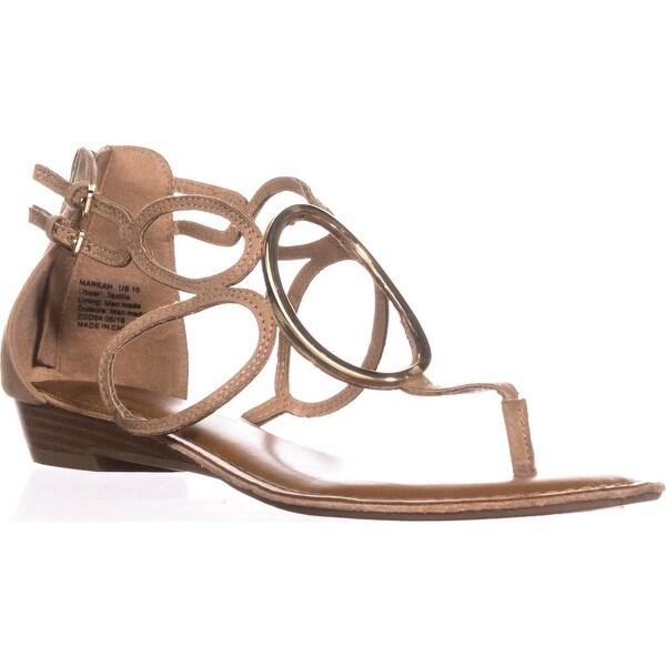 Zigi Soho Markah Strappy Metal Embellished Flat Sandals, Natural Sand