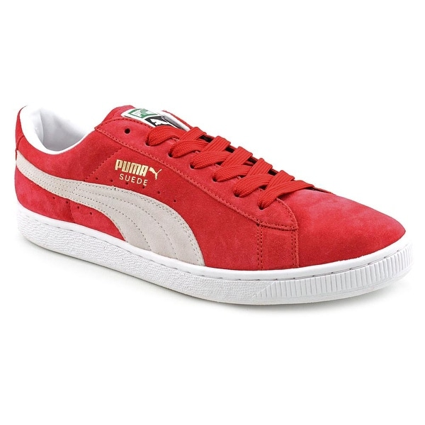 Puma Suede Archive Eco Men Round Toe Suede Red Sneakers