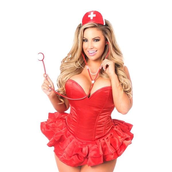 f37cf124e21 Shop Plus Size Sexy Nurse Corset Costume