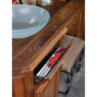 """Rev-A-Shelf 6541-13 Slim Line 13"""" Stainless Steel Sink Front Tip-Out Tray - N/A"""