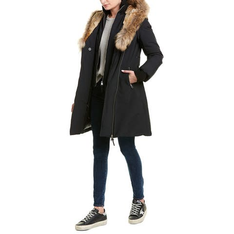 Mackage Trish Leather-Trim Down Coat