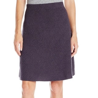 Nic+Zoe NEW Gray Women's Medium PM Petite Texture Knit A-Line Skirt