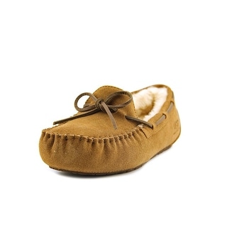 Ugg Australia Dakota Youth Moc Toe Suede Tan Slipper