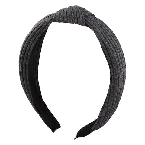 Woman Headdress Decoration Bowknot Design Hair Hoop Headband Hairband Dark Gray