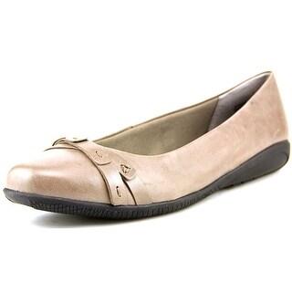 Walking Cradles Felt Women  Round Toe Leather Gray Flats