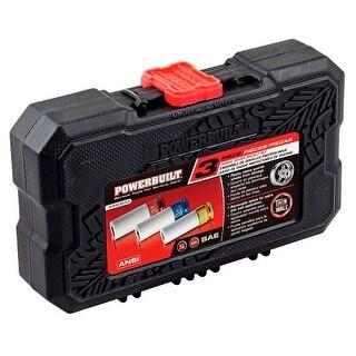 Powerbuilt 3 Piece 1/2-Inch Drive SAE Lug Nut Socket Set,Wheel Impact Socket Kit