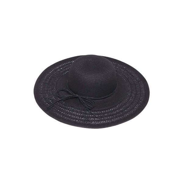 fa02e432041c64 Shop Womens Wide Brim Straw Floppy Sun Hat - Free Shipping On Orders Over  $45 - Overstock - 22809690