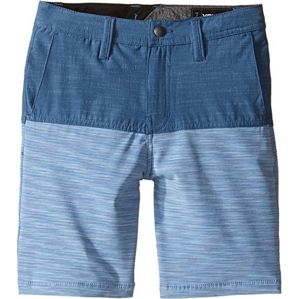 Volcom Boys Frickin Snt Block Shorts (Toddler/Little Kids), Smokey Blue, 5