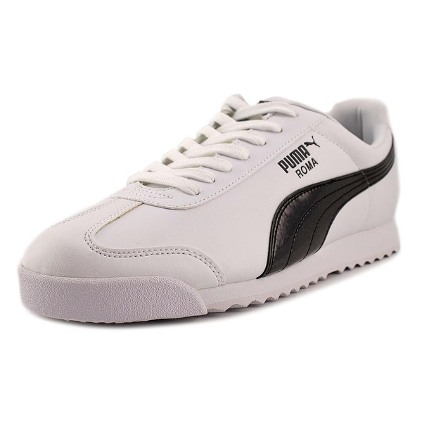 Puma Roma TL Iridescent Men Round Toe Leather White Running Shoe