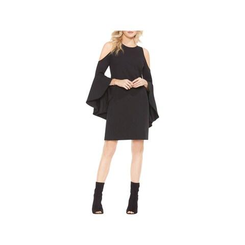 Vince Camuto Womens Party Dress Cold Shoulder Mini