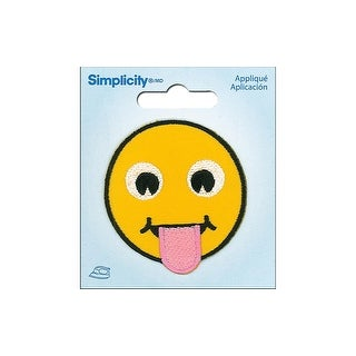 Simplicity Applique Iron On Tongue Out Emoji