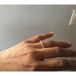 De Couer 14k White Gold 2ct TDW Diamond Eternity Wedding Band