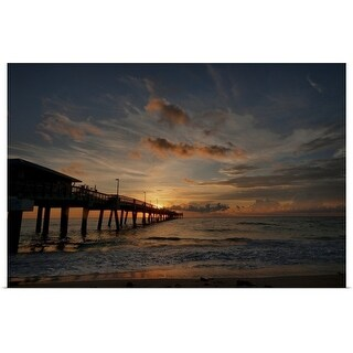"""Dania beach at sunrise"" Poster Print"