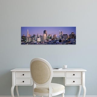 Easy Art Prints Panoramic Images's 'High angle view of a city, San Francisco, California, USA' Premium Canvas Art
