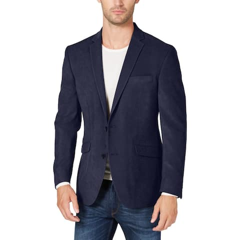 Kenneth Cole Reaction Mens Big & Tall Blazer Ultra Suede Slim Fit - Navy