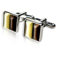 Coffee and Gold Cufflinks