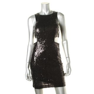 Teeze Me Womens Juniors Clubwear Dress Cut Out Sides Sequined - 9