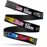 Blank Black  Buckle Power Ranger Pose Blocks Go Go! Power Rangers Web Belt