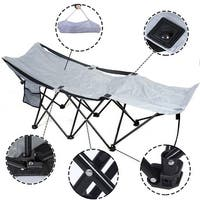 Costway Portable Folding Camping Adventure Camp Bed Durable Hammock Sleeping Cot Steel